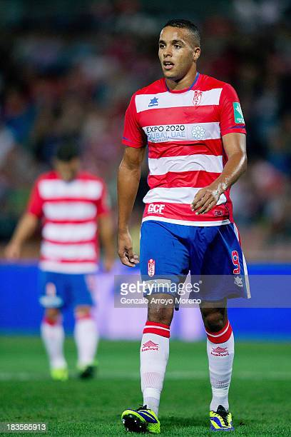 Youssef ElArabi of Granada CF in action during the La Liga match between Granada CF and Athletic Club at Estadio Nuevo Los Carmenes on September 30...
