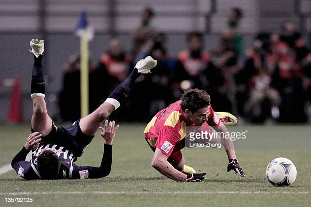 Youssef Msakni of Esperance Sportive de Tunis in action during the FIFA Club World Cup 5th Place match between Club de Futbol Monterrey and Esperance...