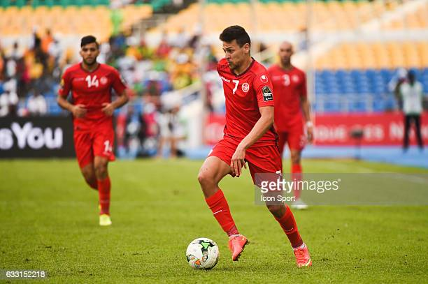 Youssef Msakni of Tunisia during the African Nations Cup Quarter Final match between Burkina Faso and Tunisia on January 28 2017 in Libreville Gabon