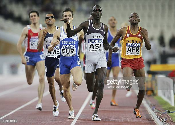 Youssef Saad Kamel of Barain wins the 800m event during the 10th IAAF World Cup in Athletics on September 17 2006 at the Olympic Stadium in Athens...