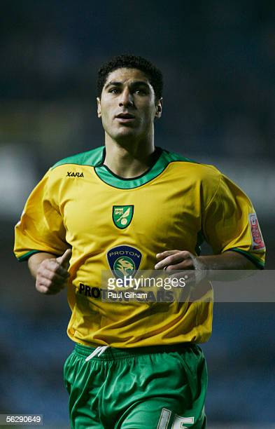 Youssef Safri of Norwich City in action during the CocaCola Championship match between Millwall and Norwich City at the New Den on November 22 2005...