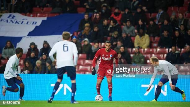 Youssef Toutouh of FC Copenhagen controls the ball during the Danish Cup DBU Pokalen match match between B93 and FC Copenhagen at Telia Parken...