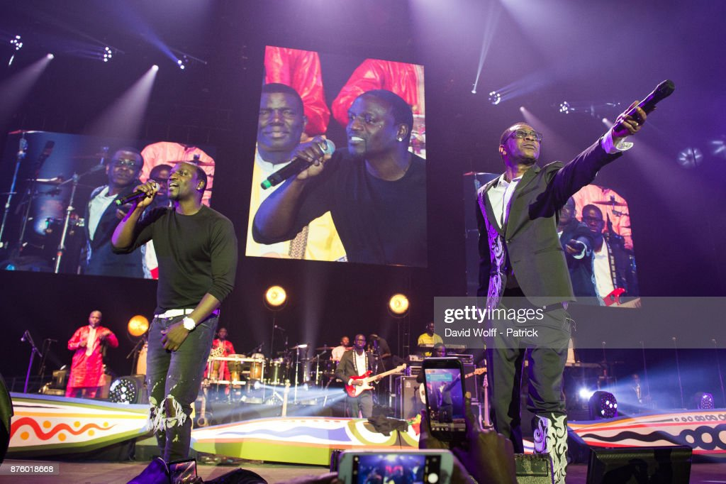 Youssou N'Dour Performs At L'AccorHotels Arena In Paris