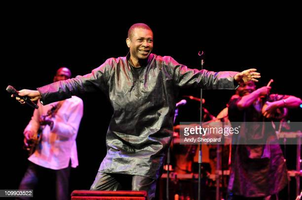 Youssou N'Dour performs on stage at Barbican Centre on March 9 2011 in London United Kingdom