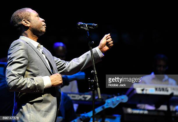 Youssou N'Dour rehearsing for his concert at the Usher Hall the concert is part of the Edinburgh International Festival on August 24 2016 in...