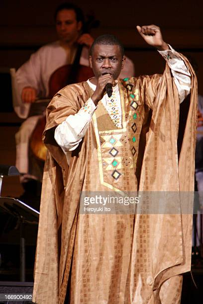 Youssou N'Dour's 'Egypt' featuring Fathy Salama's Cairo Orchestra at Carnegie Hall on Wednesday night October 26 2005This imageYoussou N'Dour