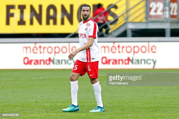 Youssouf Hadji of Nancy looks dejected during the Ligue 2 match between As Nancy Lorraine and Reims on March 31, 2018 in Nancy, France.