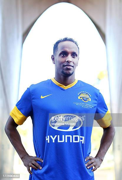 Youssouf Hersi poses for a portait during the ALeague All Stars Player Announcement at ANZ Stadium on July 4 2013 in Sydney Australia