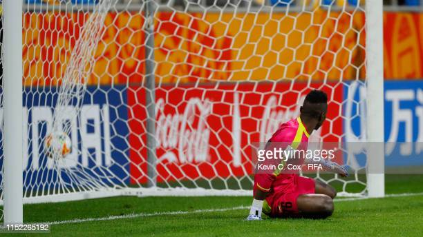 Youssouf Koita of Mali fails to stop a penalty shot by Hassan Altambakti of Saudi Arabia to score his team's second goal during the 2019 FIFA U-20...