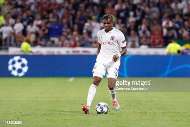 Youssouf Kone of Olympique Lyonnais controls the ball during the UEFA Champions League group G match between Olympique Lyon and Zenit St Petersburg...