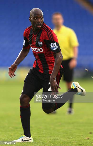 Youssouf Mulumbu of West Bromwich Albion in action during the pre-season friendly between West Bromwich Albion and Atromitosat Greenhous Meadow on...