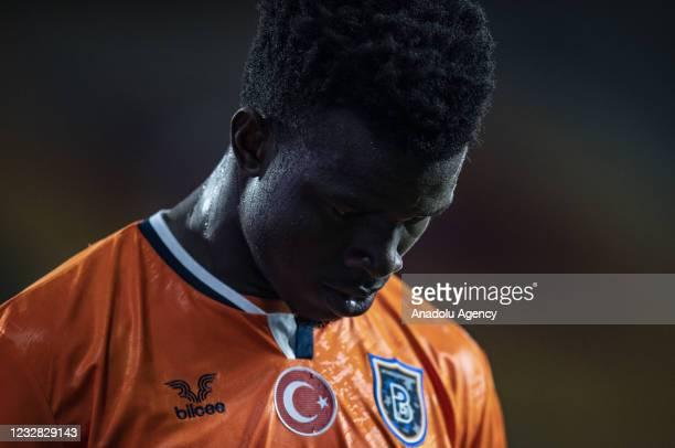 Youssouf Ndayishimiye of Medipol Basaksehir gestures during Turkish Super Lig week 41 soccer match between Medipol Basaksehir and Hes Kablo...