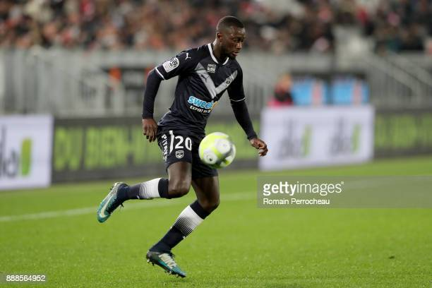 Youssouf Sabaly of Bordeaux in action during the Ligue 1 match between FC Girondins de Bordeaux and Strasbourg at Stade Matmut Atlantique on December...