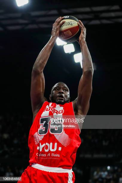 Youssoupha Ndoye of Bourg en Bresse during the Jeep Elite match between Boulazac Basket Dordogne v JL Bourg en Bresse on November 17 2018 in Boulazac...