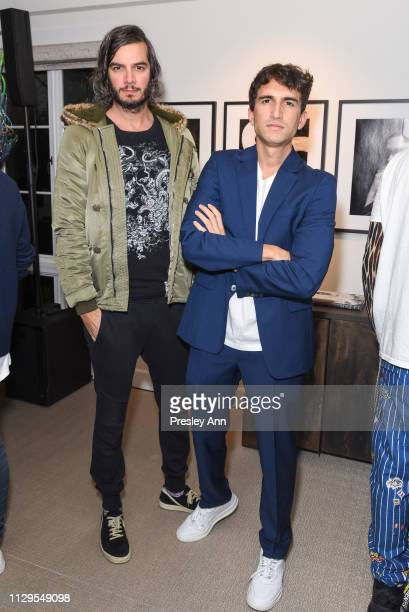 Youtchi Von Lintel and Rocco Basilico attend Oliver Peoples x Tasya van Ree Celebrates Who is Oliver Exhibition at LECLAIREUR on February 13 2019 in...