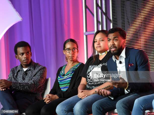 Youth Activists Brian Ball Jasmine Burton Jaclyn Charger and Nicholas Cousar attend the 2018 Georgia Campaign for Adolescent Power Potential Youth...