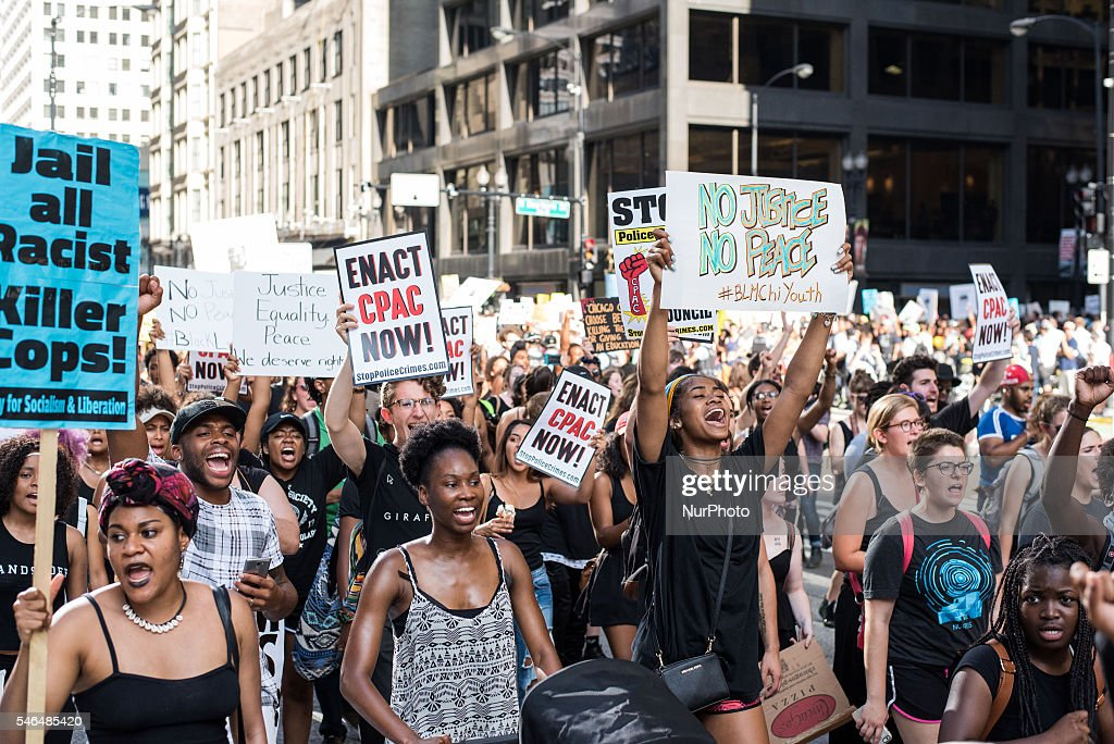 Black Lives Matter protest in Chicago : News Photo