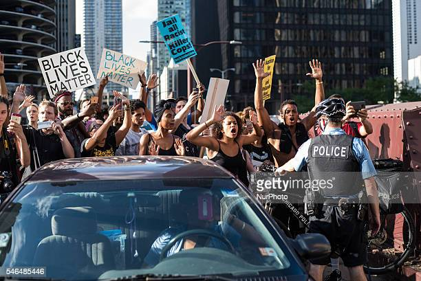 Youth activists led a Black Lives Matter protest around downtown Chicago with over 1000 participants in Chicago on July 11 2016