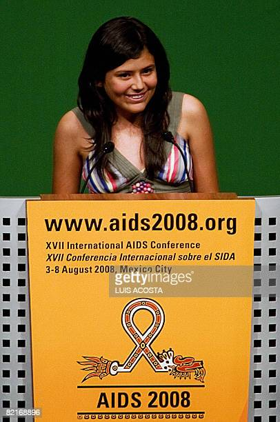 Youth Advocacy on HIV/AIDS Karen DunawayGonzales of Honduras delivers a speech during the opening ceremony of the XVIIth International AIDS...