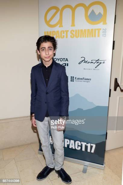 Youth ambassador Aidan Gallagher attends the EMA IMPACT Summit hosted by the Environmental Media Association presented by Toyota Mirai and Calvert...