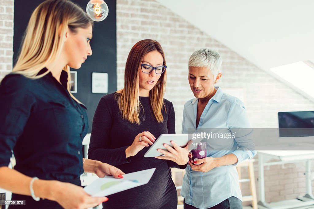 Youth And Experience in Business. : Stock Photo