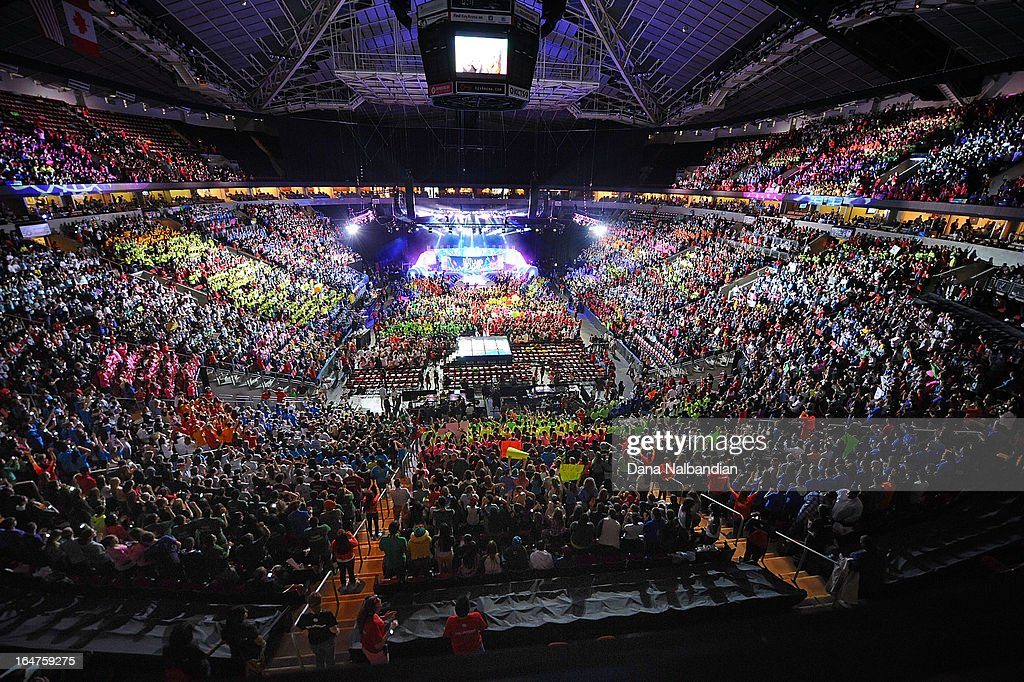 Youth and supporters pack the KeyArena at Seattle Center for Free The Children's inaugural We Day in the U.S.
