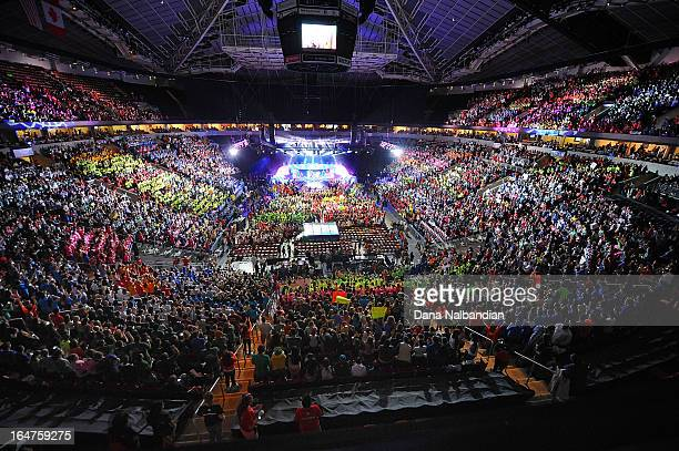 Youth and supporters pack the KeyArena at Seattle Center for Free The Children's inaugural We Day in the US