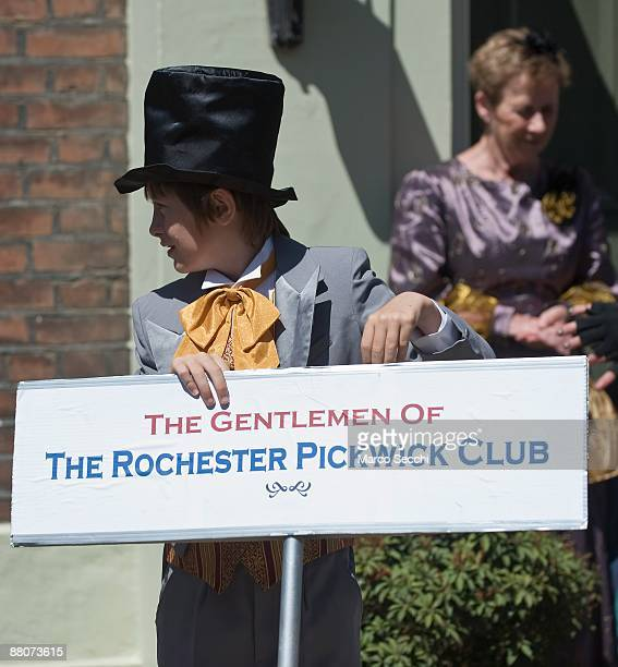 A youth attired in traditional costume take part in the 31st Summer Dickens Festival which celebrates Charles Dickens links with Medway on May 29...