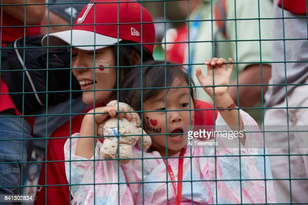 Little League World Series Japan Region fans cheering during Championship Game vs USA Southwest Region at Howard J Lamade Stadium South Williamsport...