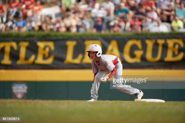 Little League World Series Japan Region Kazuki Watanabe in action vs USA Southwest Region during Championship Game at Howard J Lamade Stadium South...