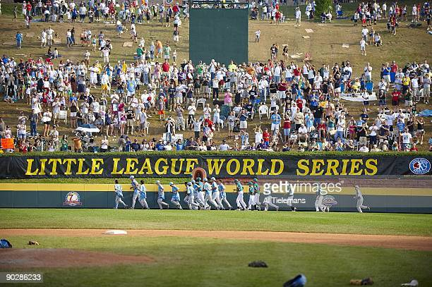 Little League World Series US Team West taking victory lap after winning Championship Game with Asia Pacific at Howard J Lamade Stadium Williamsport...