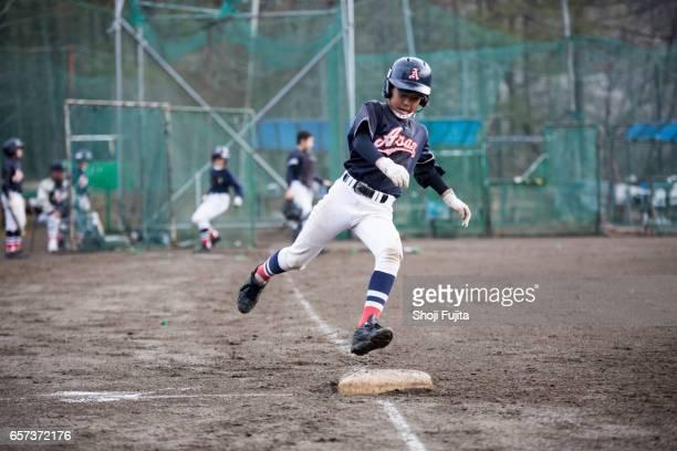 Youth Baseball Players, base-running
