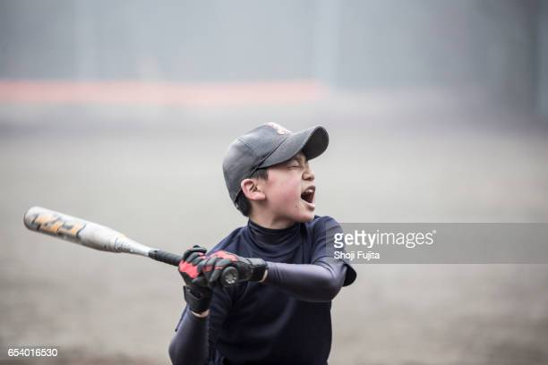 youth baseball players, hitting big - baseball sport stock pictures, royalty-free photos & images