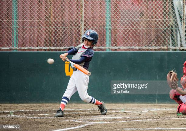 youth baseball players,playing game,batting - batting sports activity stock pictures, royalty-free photos & images