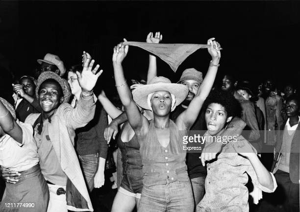 Youth celebrating at the Notting Hill Carnival, London, UK, 31st August 1976.