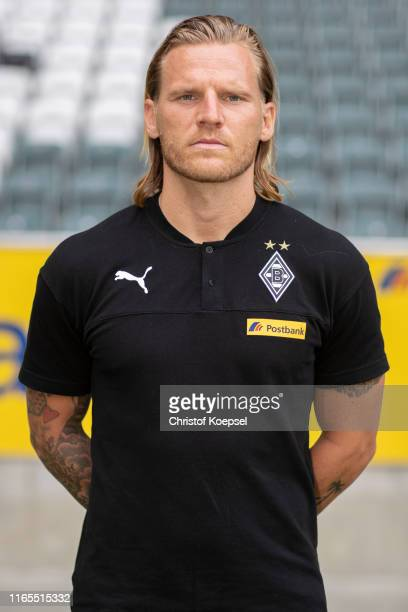 Youth coach Eugen Polansk of Borussia Moenchengladbach poses during the team presentation at Borussia-Park on August 01, 2019 in Moenchengladbach,...