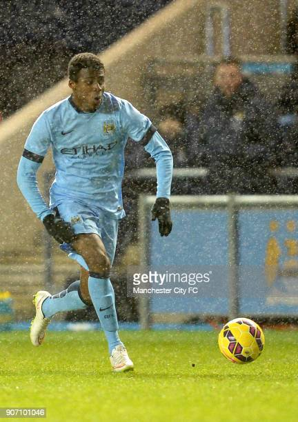 FA Youth Cup Fifth Round Manchester City v Stoke City City Academy Stadium Javairo Dilrosun Manchester City