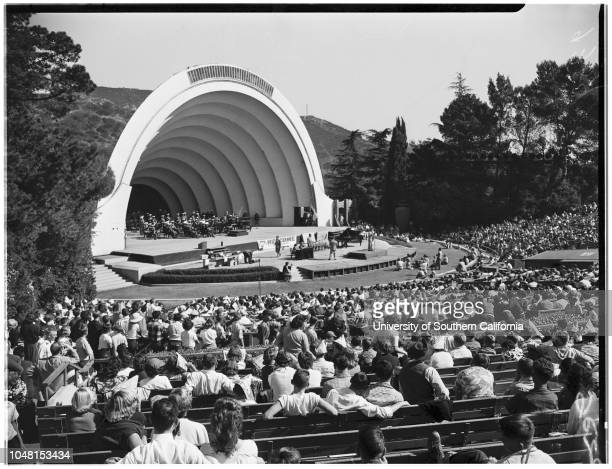 Youth Day Hollywood Bowl 3 November 1951 Charles Stark 14 yearsMike Edgley 14 yearsDonna ReedAnna Hackler 16 yearsDonna Kean 15 yearsTom HarmonArt...
