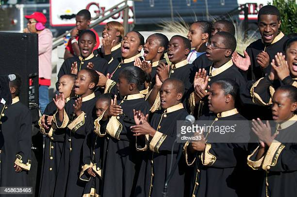 youth gospel choir - gospel stock photos and pictures