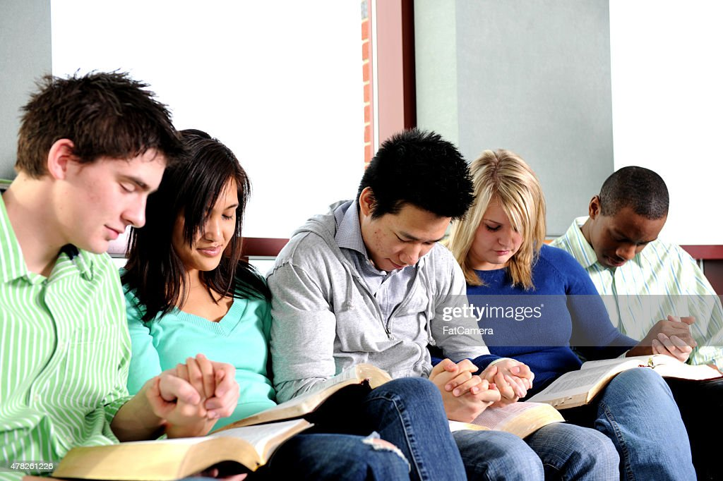 Youth Group Bible Study : Stock Photo