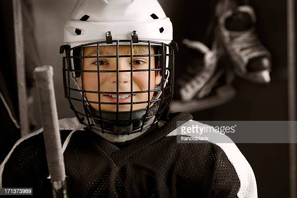 Youth Hockey Player Ready to Play