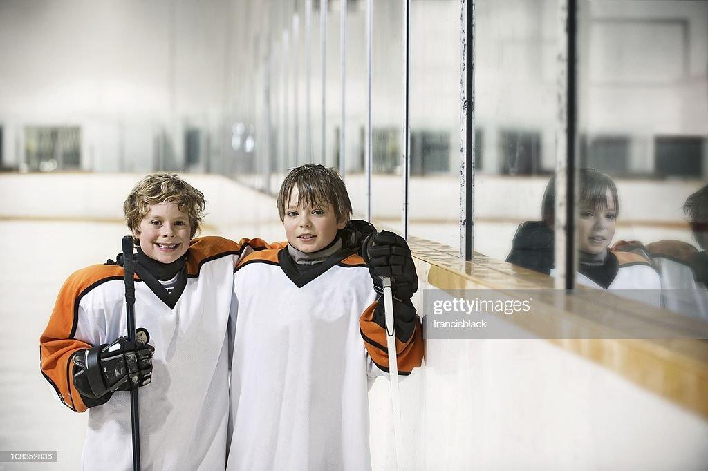 Youth Hockey Players : Stockfoto