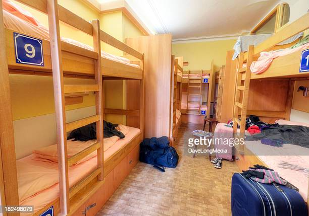 youth hostel dorm room - hostel stock pictures, royalty-free photos & images