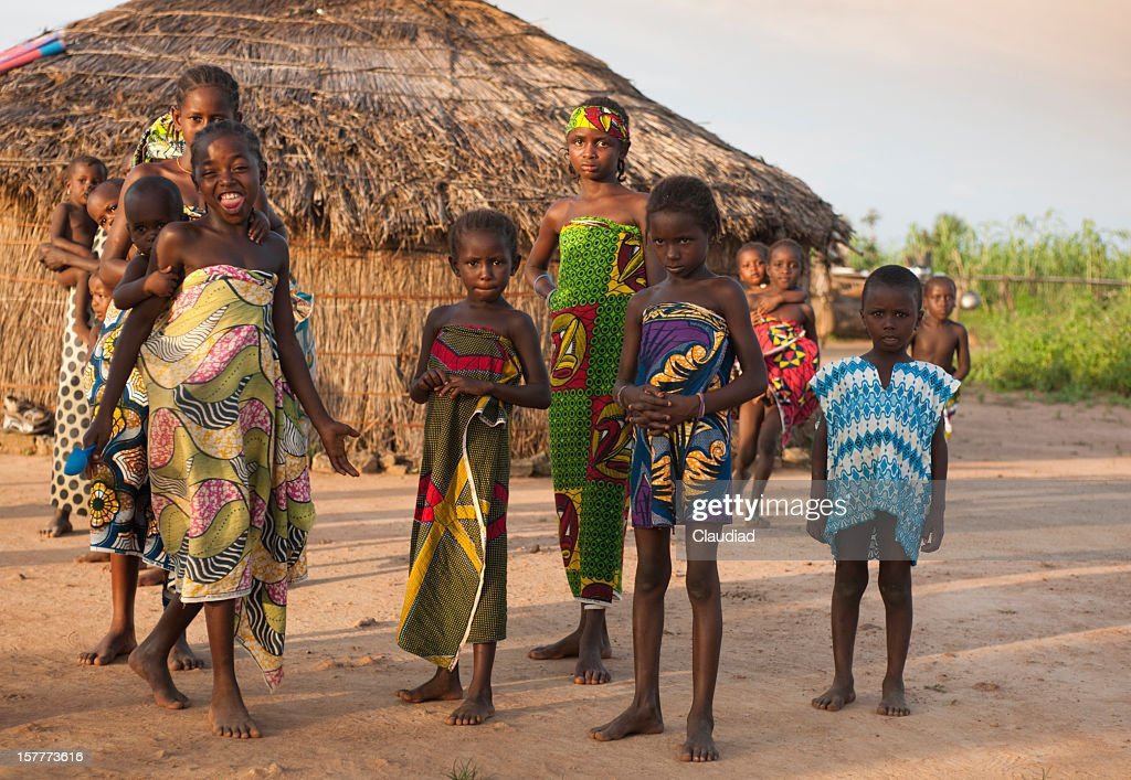 Youth in nigerian village : Stock Photo