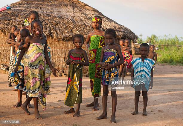 youth in nigerian village - nigeria stock pictures, royalty-free photos & images