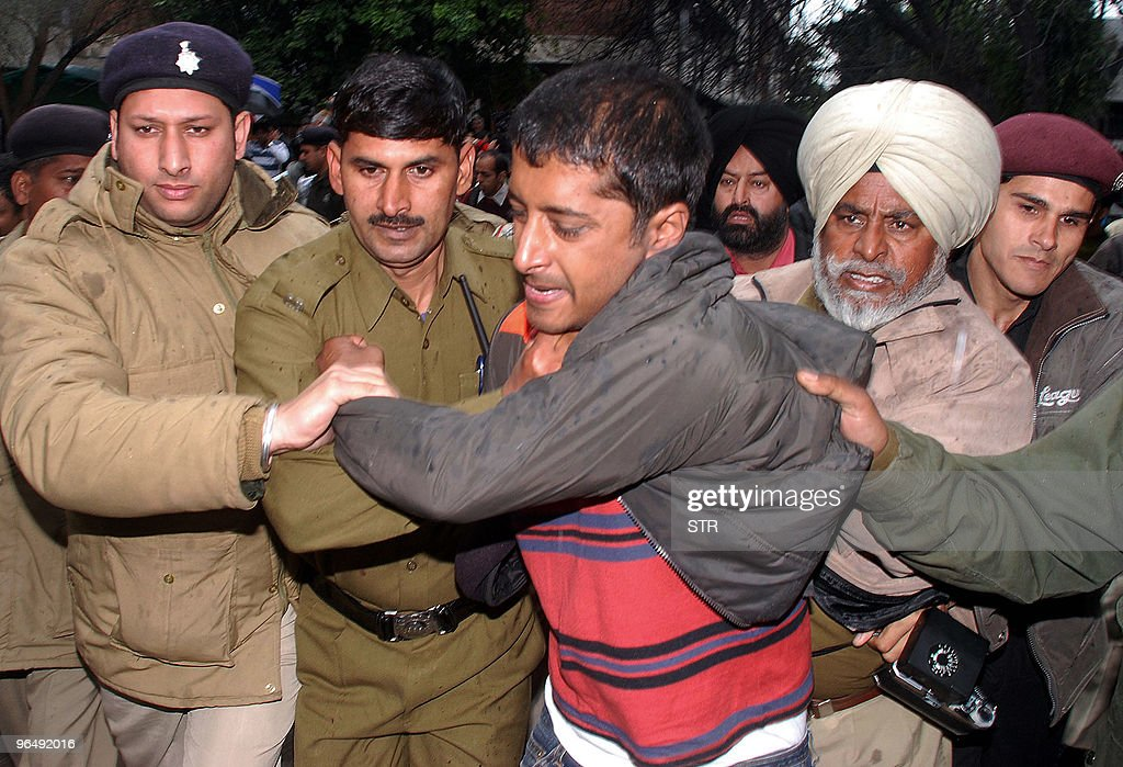 A youth later identified as Utsav who attacked unseen former Director General of Police of Haryana SPS Rathore convicted in the Ruchika molestation...
