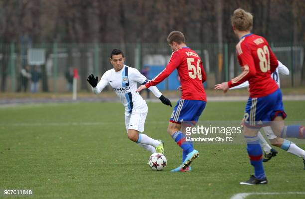 Youth League Group D CSKA Moscow v Manchester City Oktyabr Stadium Manchester City's Marcos Lopes in action