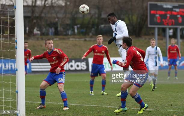 Youth League Group D CSKA Moscow v Manchester City Oktyabr Stadium Manchester City's Devante Cole scores his team's goal