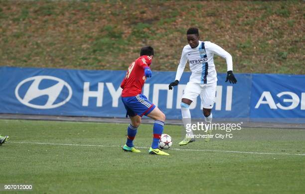 Youth League Group D CSKA Moscow v Manchester City Oktyabr Stadium Manchester City in action