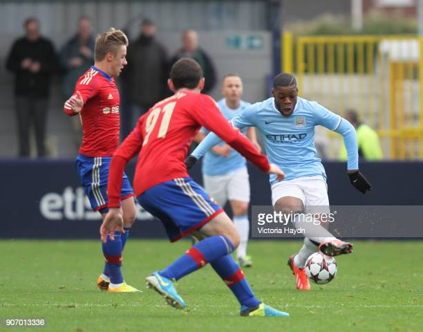 Youth League Group D Manchester City v CSKA Moscow Ewen Fields Manchester City's Olivier Ntcham in action